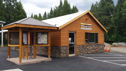 North Trinity Lake Welcome Center Kiosk